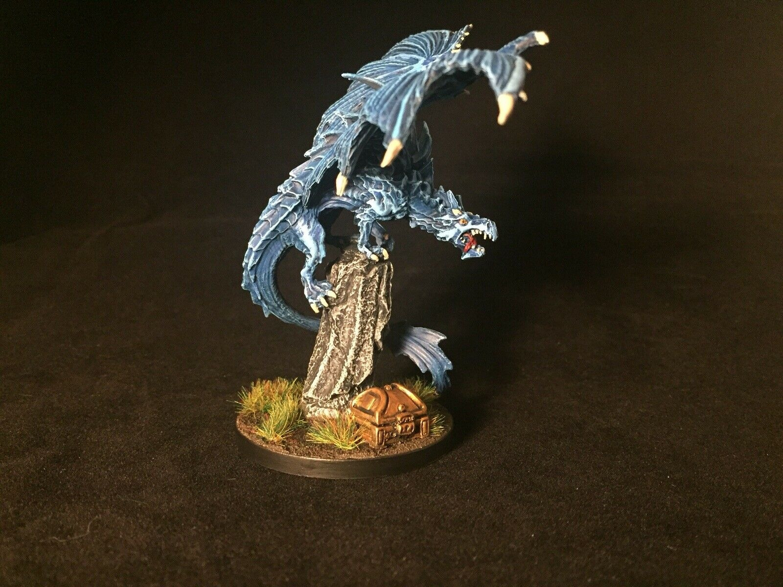 Painted Young Dragon Reaper Miniature D&D Fantasy Tabletop 28 mm mm mm Pathfinder RPG ecd910