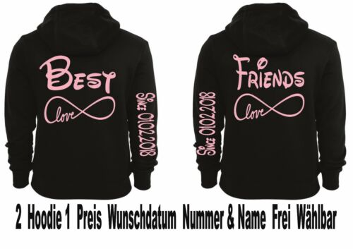 Love 5xl partenaire Pullover Sweat Xs One Motiv capuche Best à look Friends 2stk Infinity YHO1Oqvw