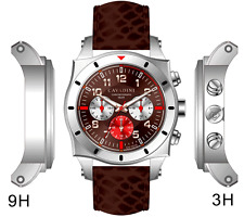 LUXURY DESIGNER CHRONOGRAPH WATCH TIMOR FROM HOME THE CAVADINI IN BROWN MODEL