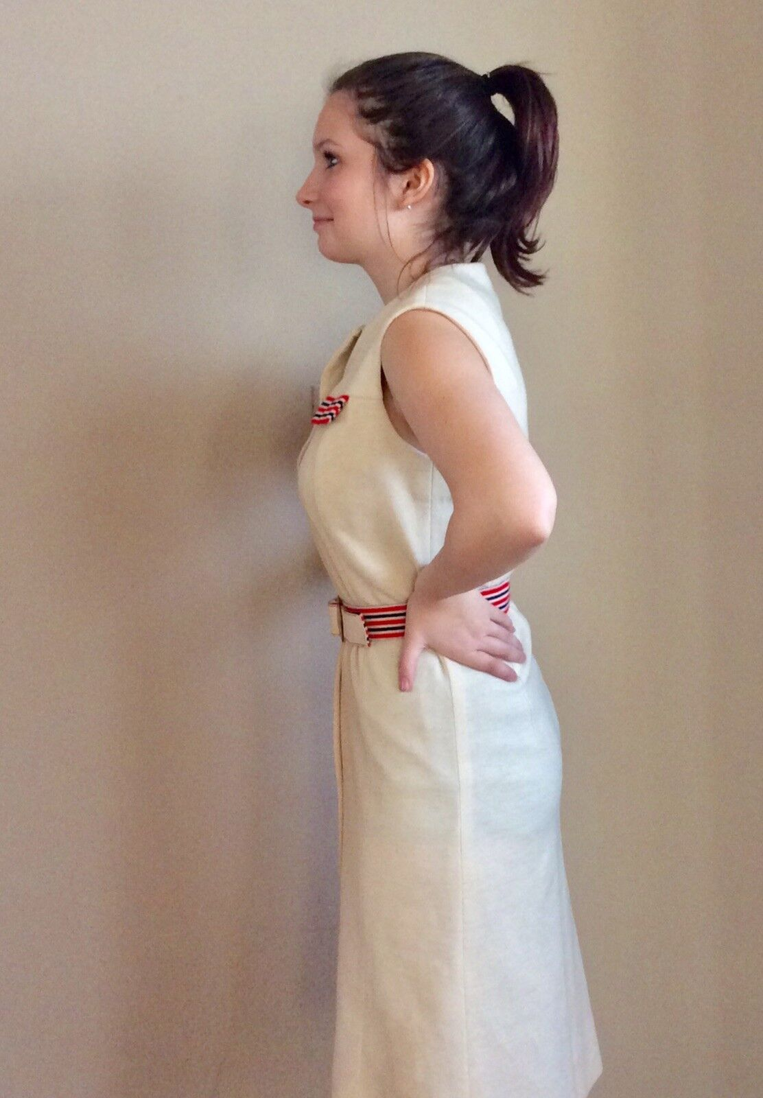 Vintage Sacony Exclusive Button Front Belted Shif… - image 4