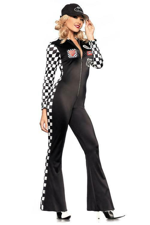 Be Wicked Costumes Women's Sexy Car Racer Costume # SMALL/MEDIUM