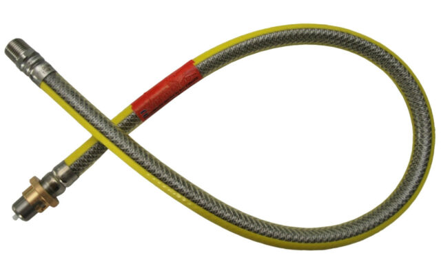 NEW GFS® Plug-In Micropoint Bayonet Gas Cooker Hose 1000mm