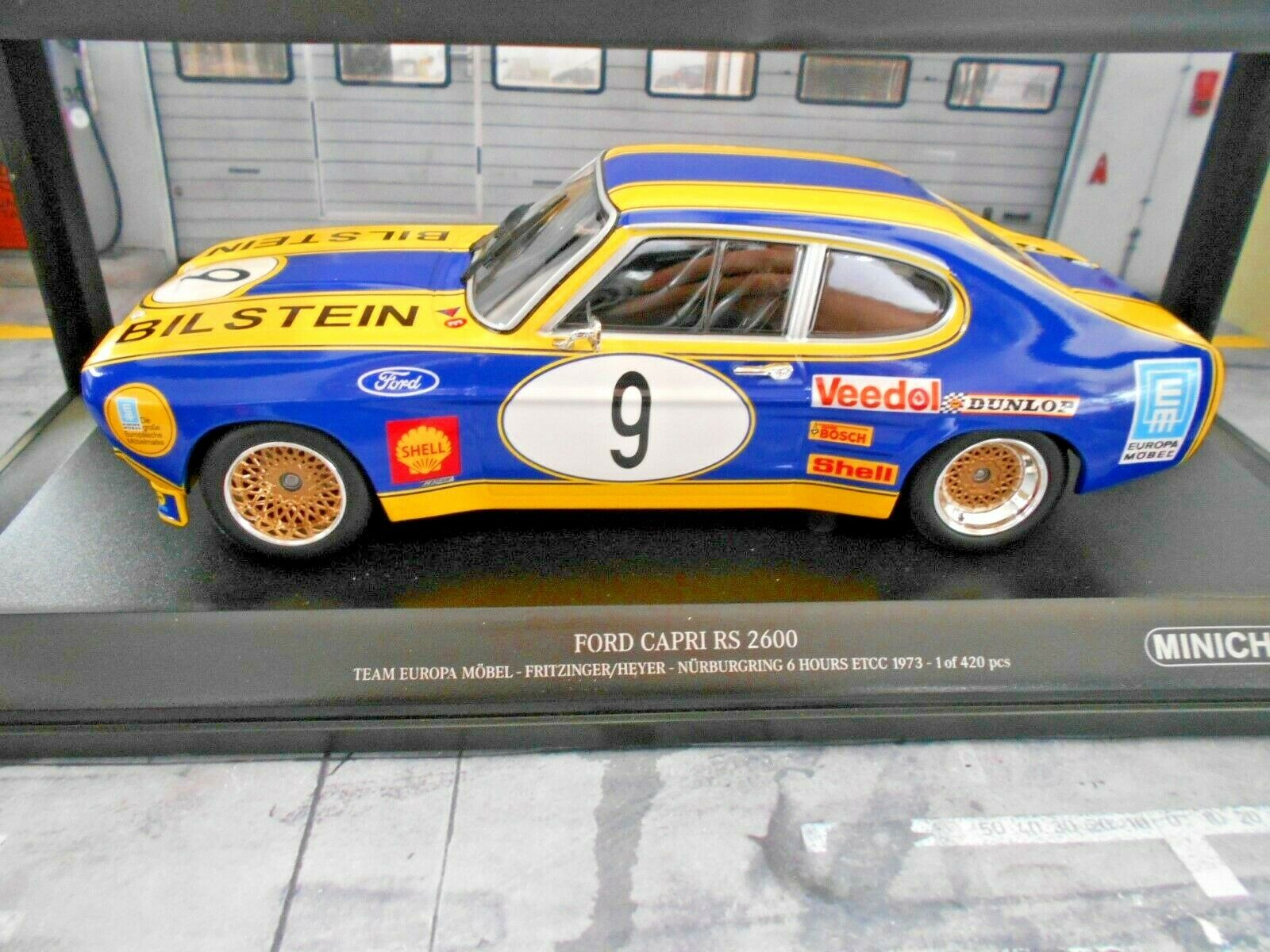 Ford Capri MKI RS 2600 rs2600 1973 ETCC nbrg  9 Heyer fritzinger Minichamps 1 18