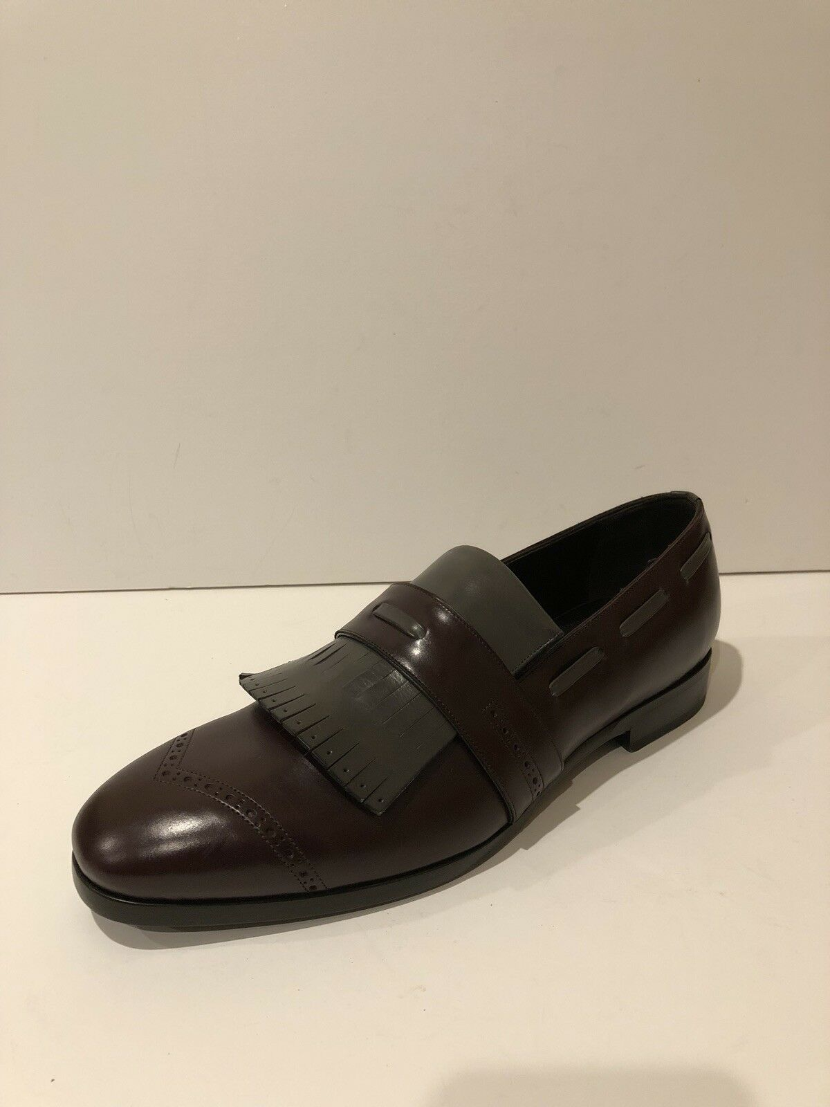 New Jimmy Choo Fringe Leather Leather Leather Loafer Slip On Dress shoes (Size  43IT 10US) 3aad45