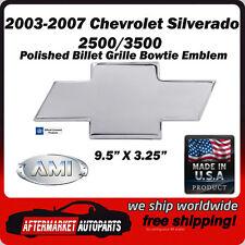03-07 Chevrolet Silverado 3500 Polished Aluminum Bowtie Grille Emblem AMI 96183P