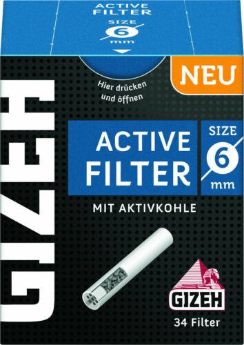 Stück Gizeh ACTIV Filter Slim 1 x 34er ø 6mm 27mm lang 34