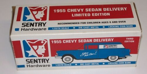 Sentry Hardware 1955 Chevy Sedan Delivery Car 125th Scale Die Cast Metal Bank