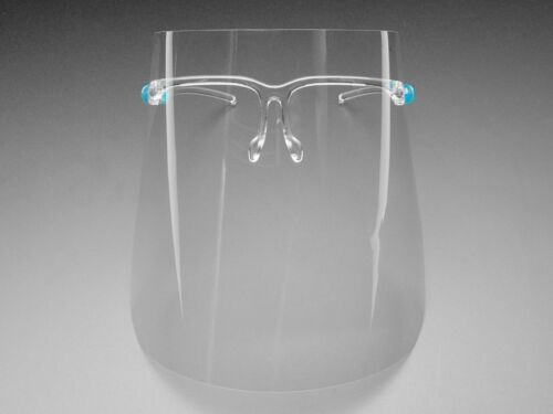 10 Pack Face Transparent Shield Screen with Glasses//Mask guard protection US
