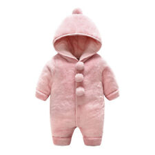 251bc4eb6 Infant Toddler Baby Boys Girls outerwear Hooded Winter Warm Jacket Down  Snowsuit