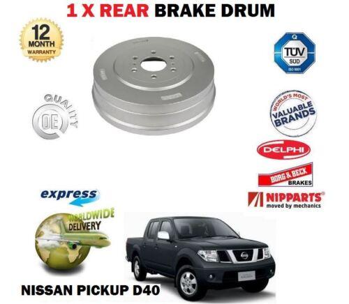 FOR NISSAN NAVARA D40 2.5TD 3.0TD PICKUP 5//2005-/> NEW 1 X REAR BRAKE DRUM