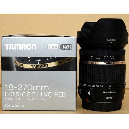 Tamron AF 18-270mm F/3.5-6.3 Di II VC PZD B008 Lens (Canon) Nuevo