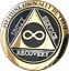 Infinity-AA-Medallion-Elegant-Black-Gold-Silver-Plated-Sobriety-Chip-Coin thumbnail 4