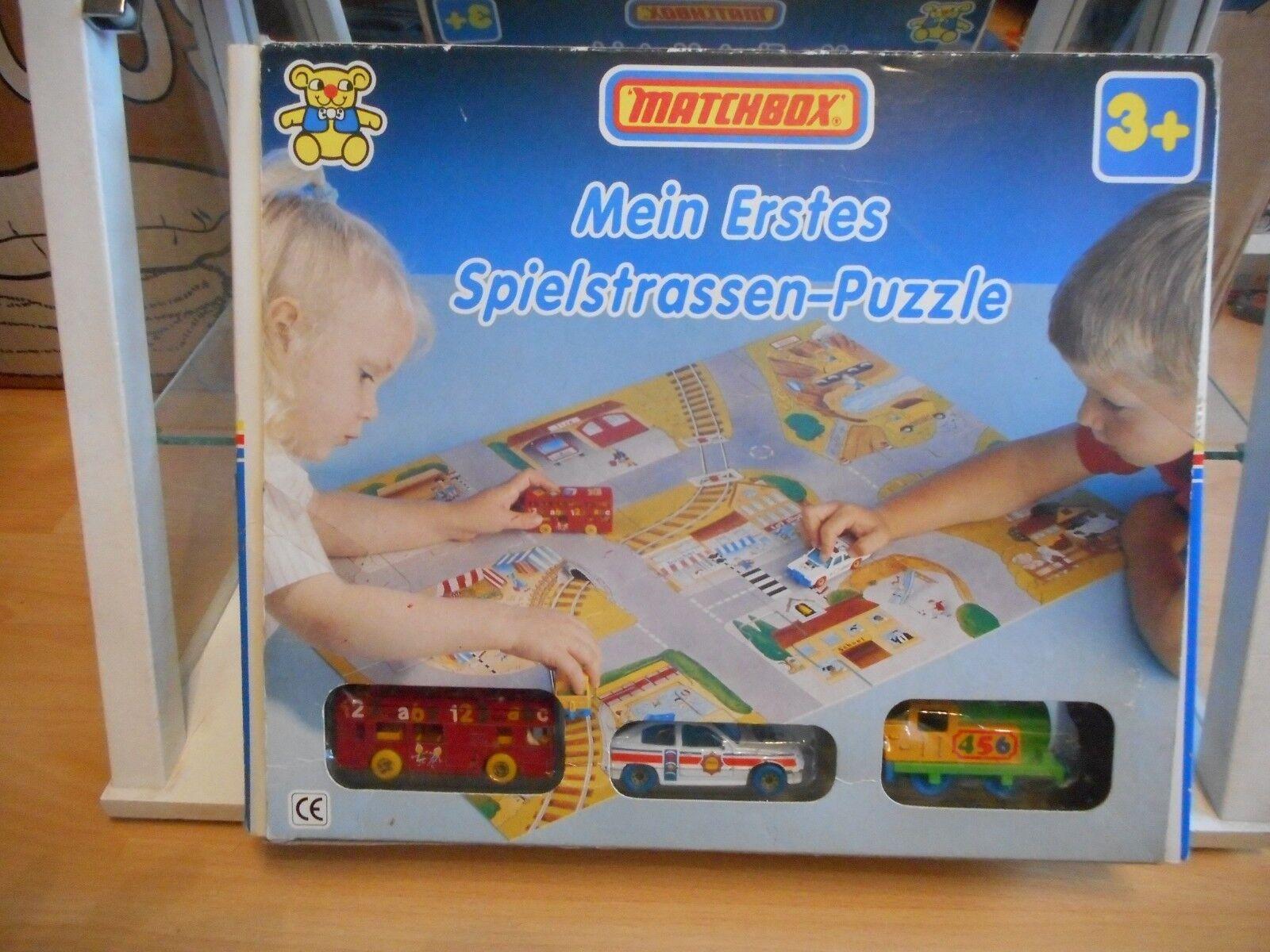 Matchbox  My First Matchbox  Set + Jigsaw Jigsaw Jigsaw Playmat in Box (German Issue) 2befa0