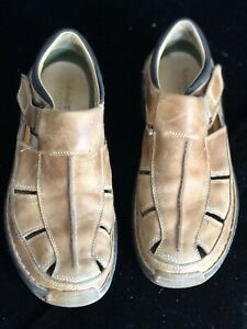 Details about MENS TIMBERLAND ALTAMONT SMART COMFORT LEATHER FISHERMAN SANDALS SIZE 11M