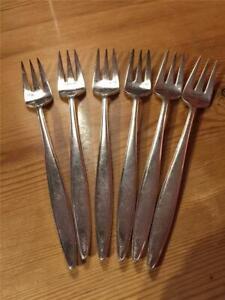6-X-Vintage-Elkington-amp-Co-Dinner-Forks-Silver-Plate-EPNS-20cm