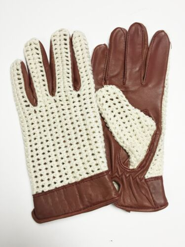 Mens Classic Retro Driving Gloves Crochet Chauffeur Top Quality Comfort Fit