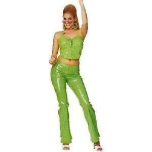 6de82a016db6 Adult Lime Disco Girl - Feelin Groovy- Medium - Fancy Dress Costume ...