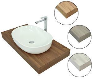 Mensola porta lavabo da appoggio legno mensolone sospeso - Mensola bagno appoggio lavabo ...