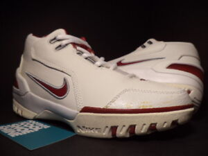 c9ba688d648 2004 Nike Air ZOOM GENERATION LEBRON 1 WHITE CRIMSON RED BLACK ...