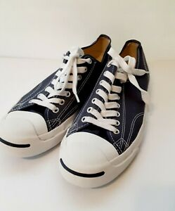 Converse-Jack-Purcell-Men-039-s-Blue-Canvas-Lace-Up-Low-Top-Sneakers-Size-10-5-China
