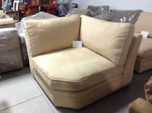Pottery Barn Pearce Couch Sofa Sectional WEDGE camel everyday suede ...