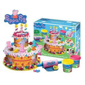 Peppa Pig PEPP003 Kids/Children Birthday Cake Dough Play Game Set New