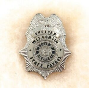 OBSOLETE-USA-WISCONSIN-STATE-PATROL-OFFICER-METAL-PIN-BADGE-23