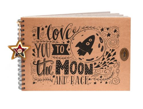 Valentines Day Gift Idea Photo Album A4//A5 I Love you to the Moon Scrapbook