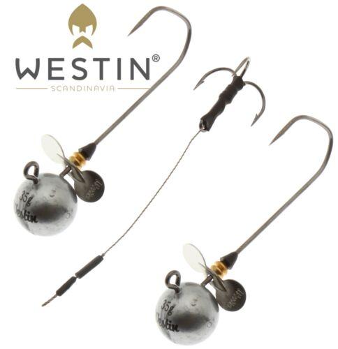 Westin Round Up Propeller 7//0  3Pcs Set 2 Jig Heads 1Pc Stinger Lure Fishing lrf
