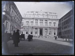 Francia O Italia c1900 Foto Negativo Placca Da Lente Vintage VR18L7n1