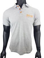 HUGO BOSS Pique Poloshirt Orange Label / grau / Gr. L / 0805