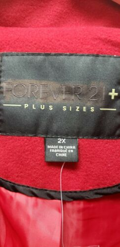 FOREVER 21 women/'s plus size trench coat red 2XL NWT jacket