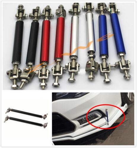 Rear Frame Bumper Splitter Lip Strut Rod Tie Bar Support Blue Universal Front