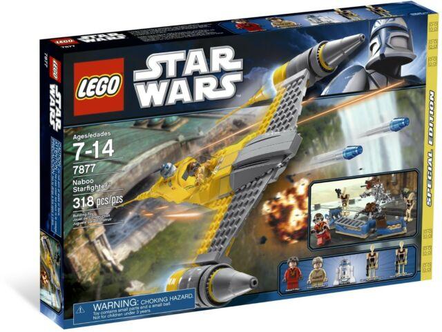 bnib Lego Star Wars Naboo Starfighter 7877 Anakin Skywalker R2-D2
