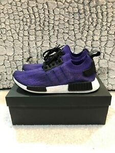 the best attitude 3a08a bd0fc Details about NEW Adidas NMD R1 PK Primeknit Mens Energy Ink Purple Black  B37627 Sz 10.5