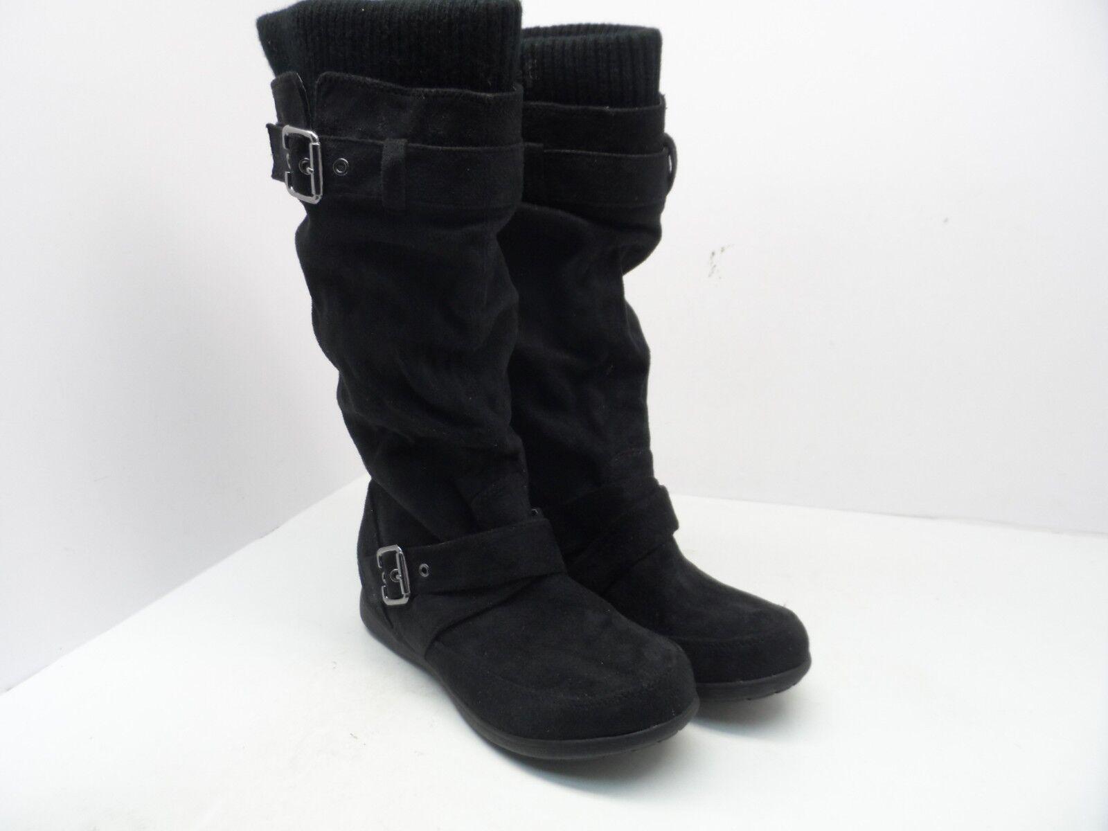 Zigi Women's Marilyn Knee High Fabric Black Faux Fur Lined Boot Black Fabric Size 7.5M 5f8453