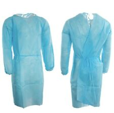 Clearance Blue Disposable Isolation Gowns 20gsm Pp 118x138cm Dental Tattoo