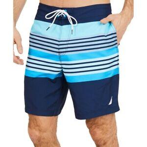 NAUTICA-NEW-Men-039-s-Engineered-Sun-Stripe-Quick-Dry-Trunk-Swimwear-Shorts-TEDO