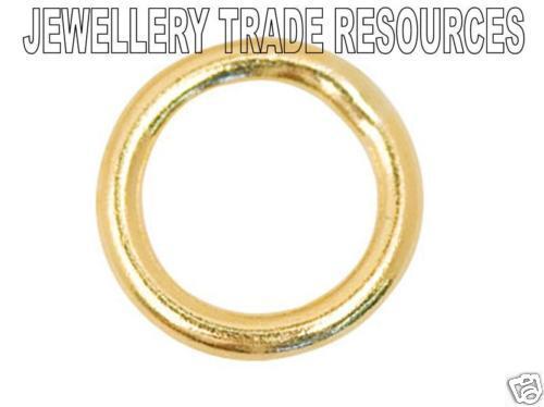 9ct White Gold 4mm Diameter Open Jump Ring Jewellery Making