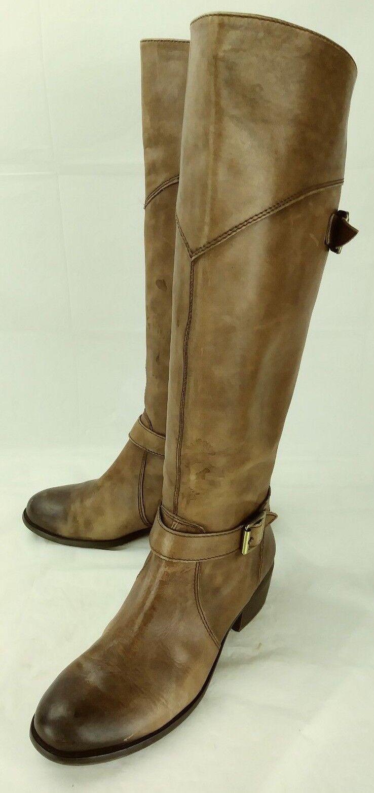 Arturo chiang Damenschuhe Stiefel Knee High Buckle US6.5M Braun Leder Zip Buckle High Heels 5203 4983cd