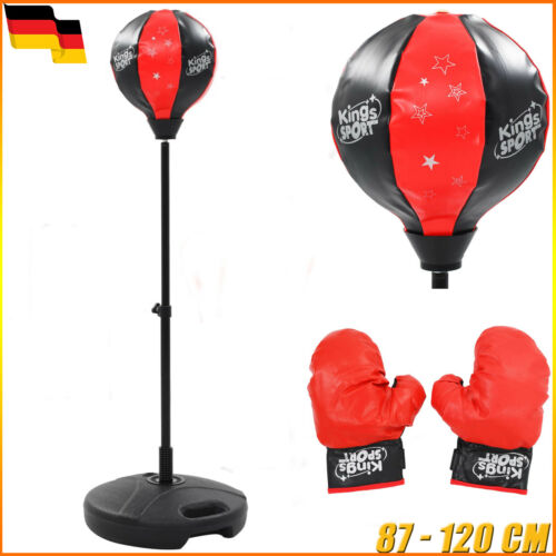 Kinder Punchingball Set Standboxsack Boxball Boxsäcke Boxhandschuhe 87-120 cm