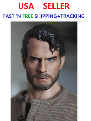 1//6 scale Henry Cavill Head Sculpt Superman Clark Kent for 12/'/' figure Phicen