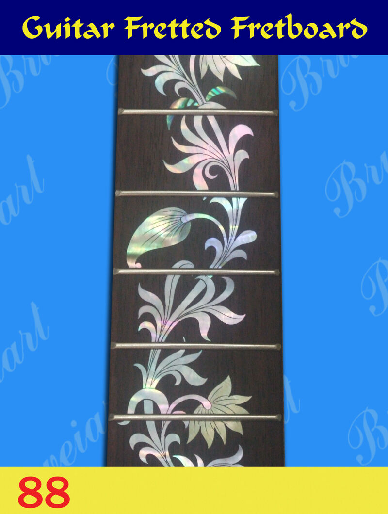 Free Shipping, Guitar Part - Fretted Fretboard w  MOP Inlay (G-88)
