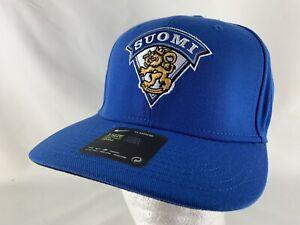 47323f055 Details about Nike Suomi Lion Crest Blue Adjustable Hat Cap Dri Fit NWT