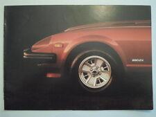 DATSUN 280ZX 2+2 & 2 Seater orig 1981 UK Mkt Sales Brochure - Nissan Fairlady Z