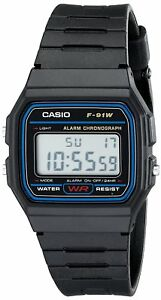 Casio-F-91W-Stopwatch-Alarm-Classic-Black-Watch-Seller-refurbished