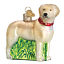 Old-World-Christmas-STANDING-YELLOW-LAB-dog-12496-N-Glass-Ornament-w-OWC-Box thumbnail 1