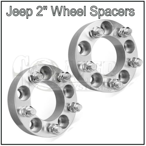 "2Pcs 2/"" Wheel Spacers 5x4.5 1//2/"" Studs For Jeep Wrangler"