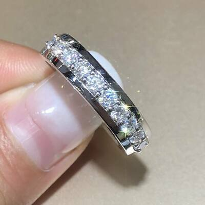 1.50Ct Round Cut VVS1//D Diamond Full Eternity Wedding Band 18K Rose Gold Finish