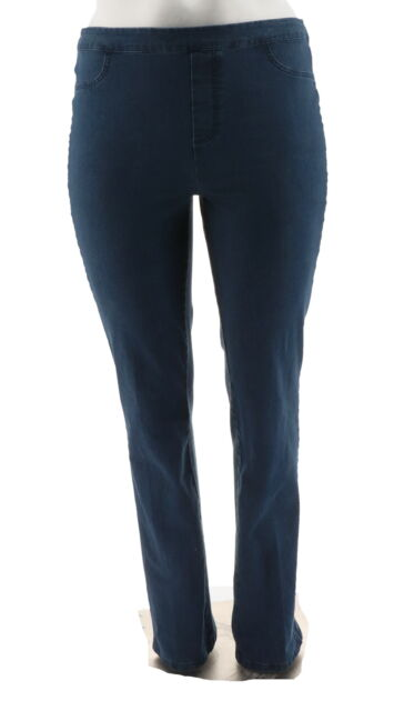 Isaac Mizrahi Tall 24/7 Denim Straight Leg Jeans Medium Indigo 14 NEW A297723